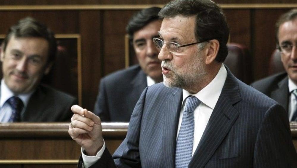 Mariano Rajoy en el pleno del Congreso.