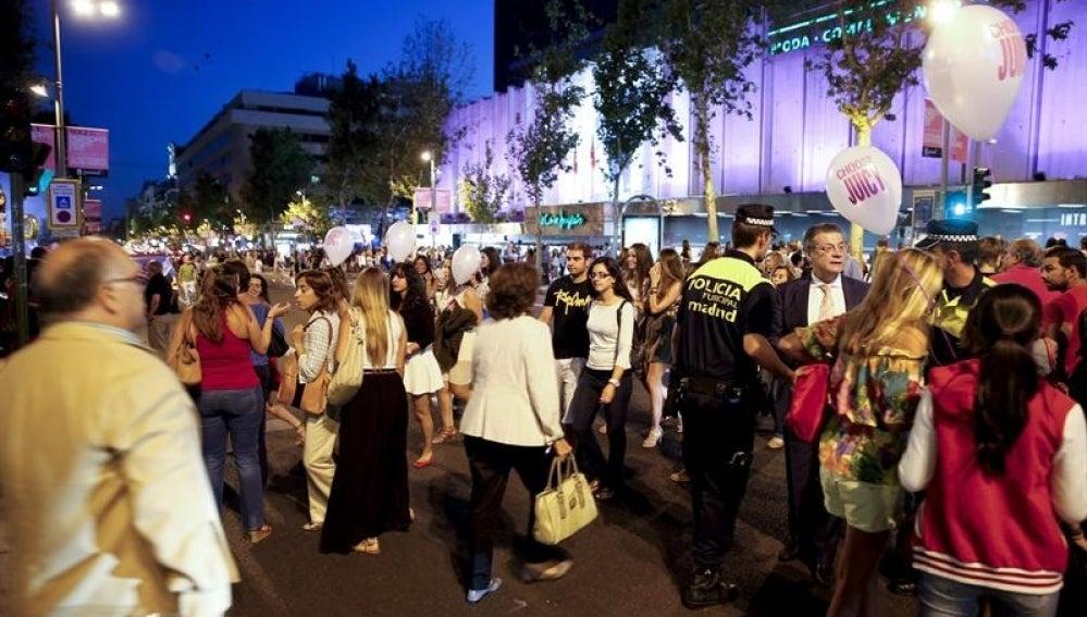 Gente en las calles de Madrid.