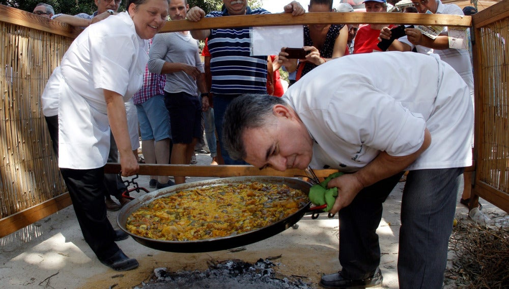 La paella del restaurante Posada Real