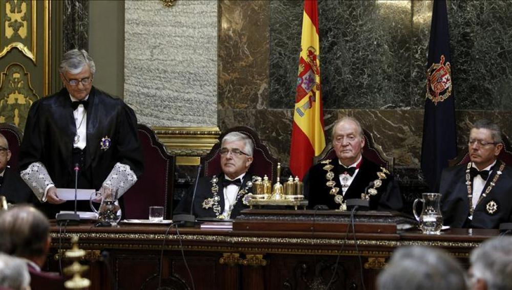 Torres-Dulce en su discurso ante el Rey, Moliner y Gallardón