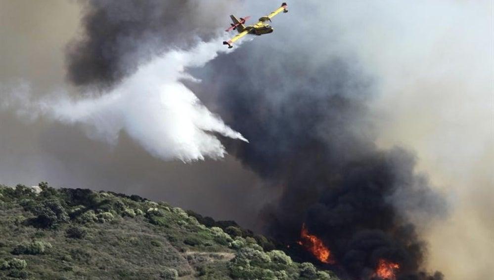 Incendio en Algeciras