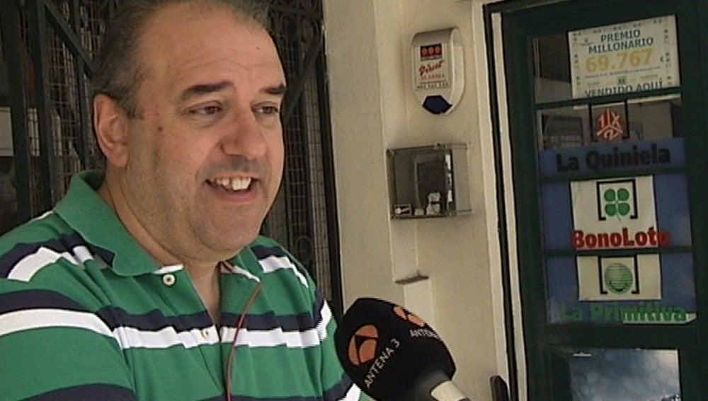 Manuel Reija, el lotero que encontró el billete premiado