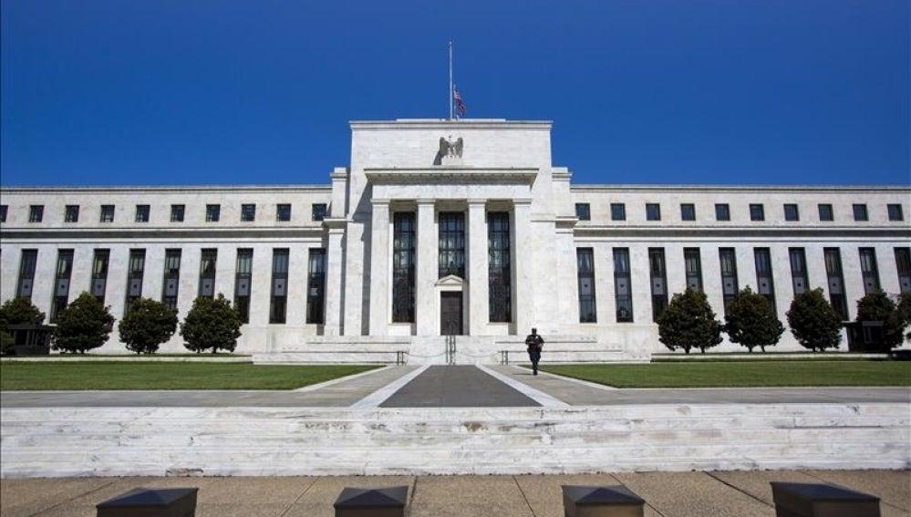 Fotografía de la Reserva Federal durante la reunión del Comité de Mercado Abierto, en Washington.