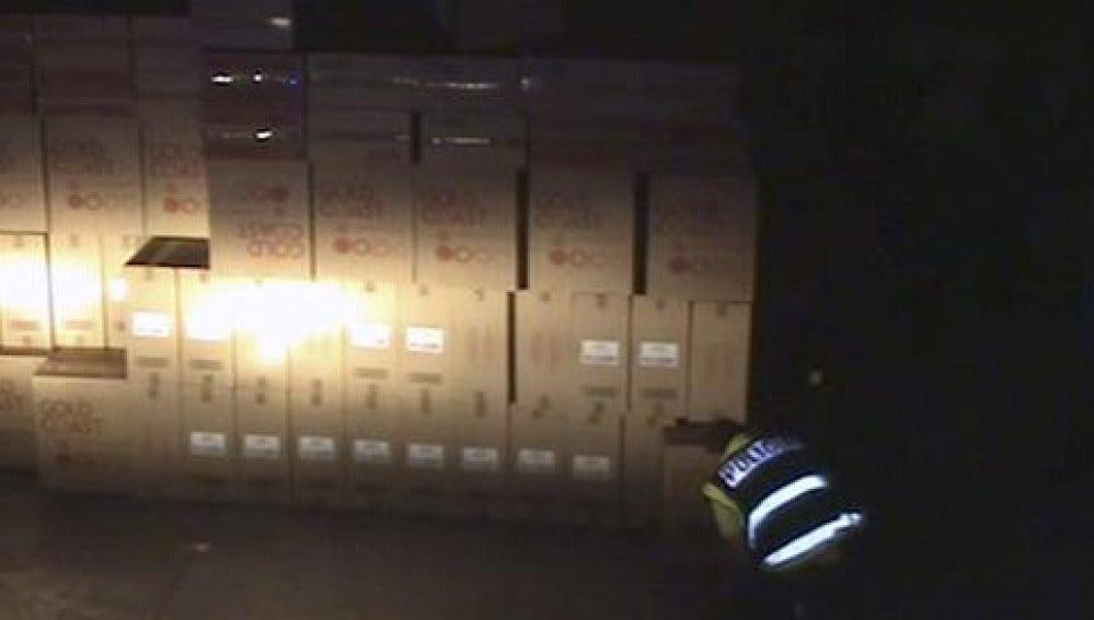 La Policía ha recuperado 420.000 cajetillas de tabaco valoradas en casi 1,8 millones de euros