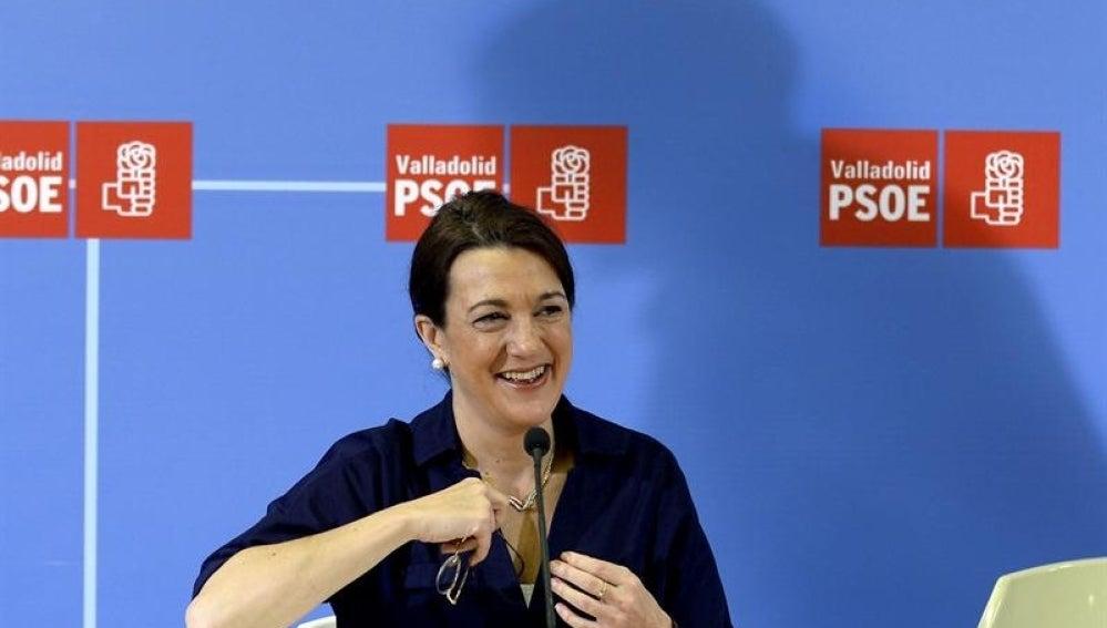 Soraya Rodríguez, en rueda de prensa.