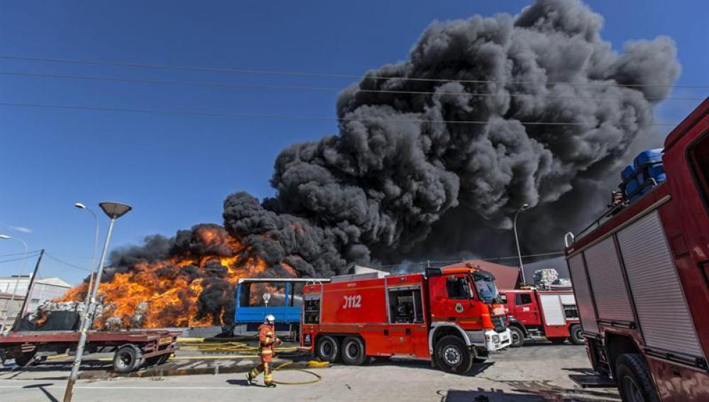 Incendio en Paterna
