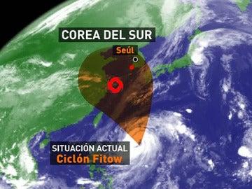 Posible trayectoria del Ciclón Fitow