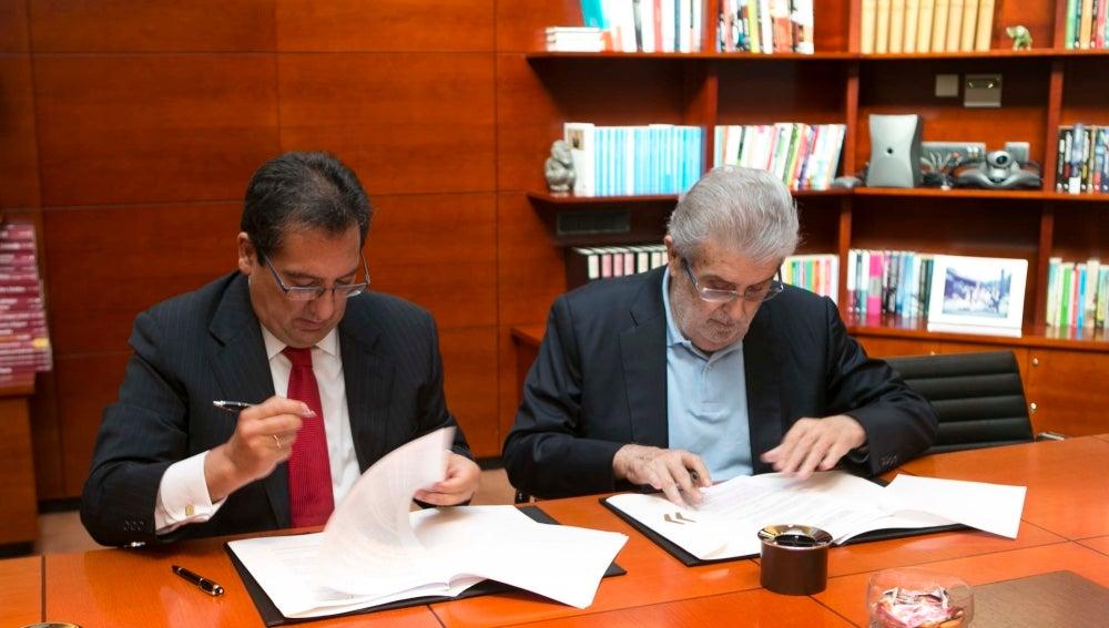 José Manuel Lara y Antonio Pulido