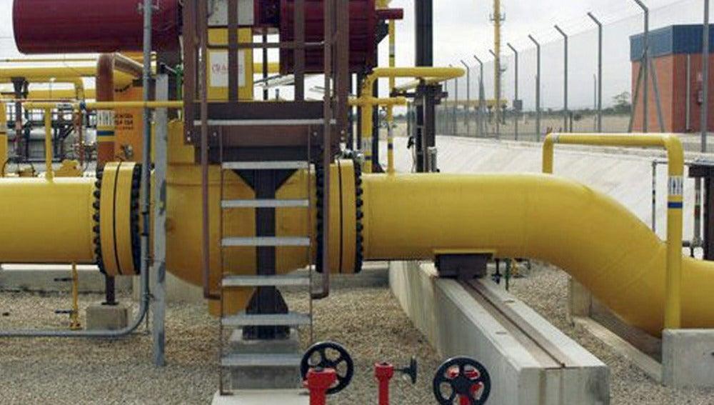Tubería de la plataforma de gas Castor