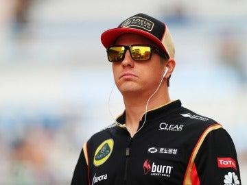Raikkonen, antes de la carrera de Corea
