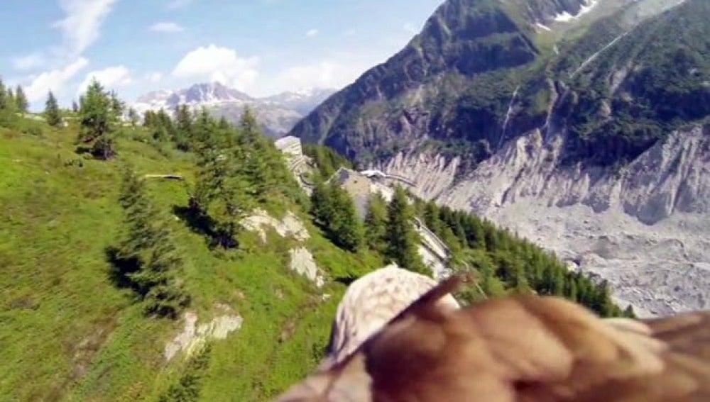 Chamonix, desde el punto de vista de un águila