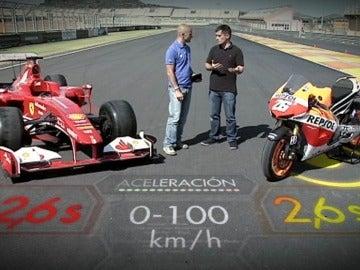 Diferencias entre un F1 y una moto GP