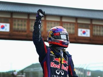Vettel, un tifón en Yeongam