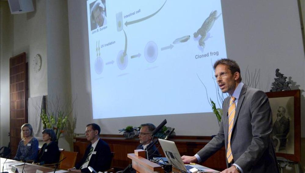 Anuncio del premio Nobel de Medicina 2013