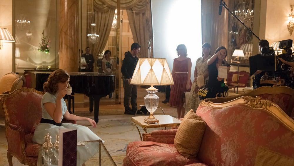 Manuela Velasco, Cecilia Freire y Paula Echevarria en el Lobby del Ritz