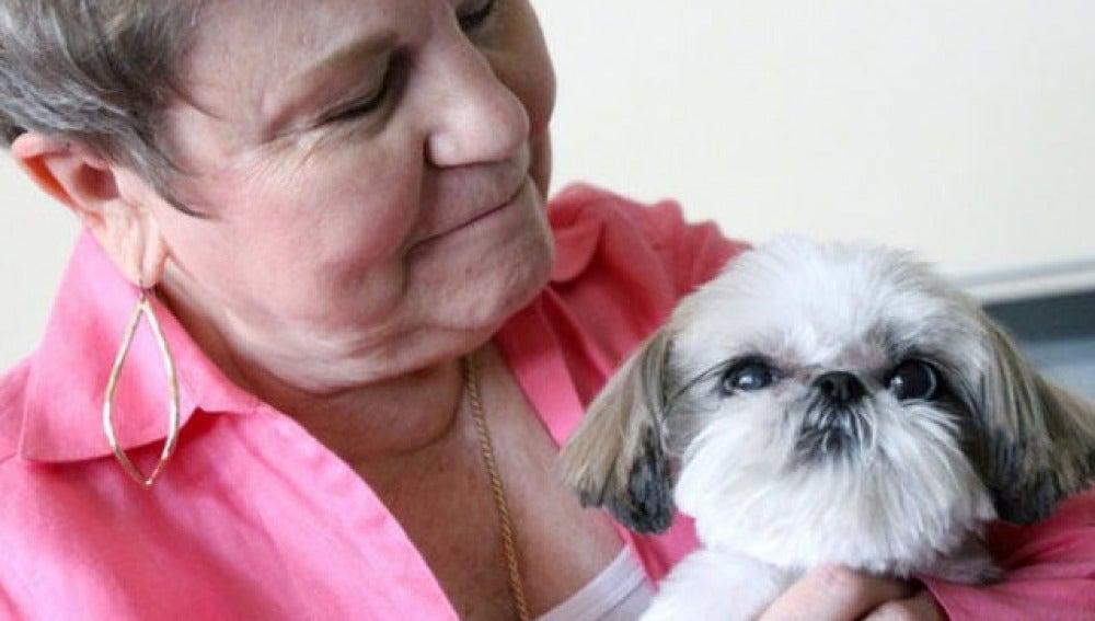 Nancy Granato y el pequeño Taffy