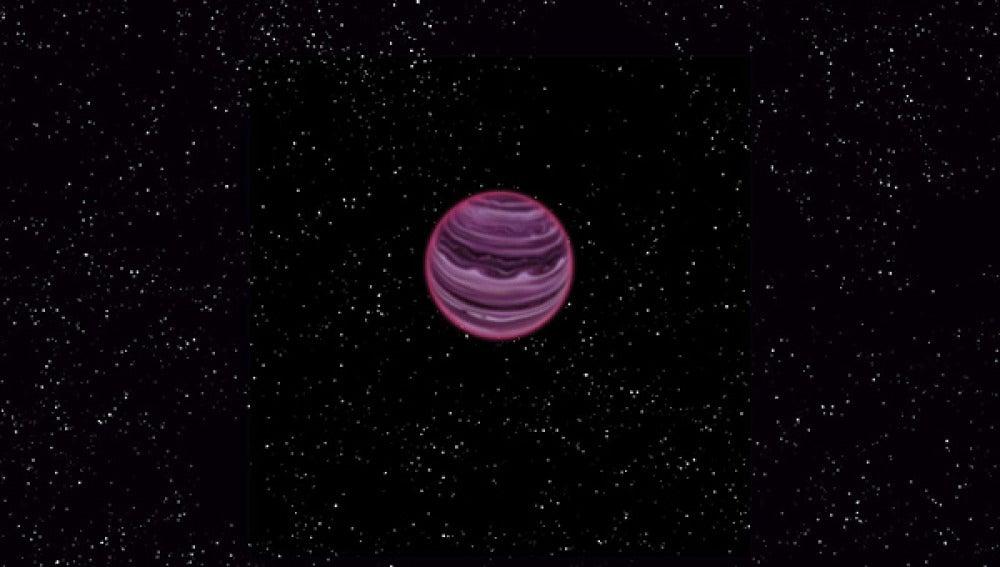 Recreación del planeta descubierto
