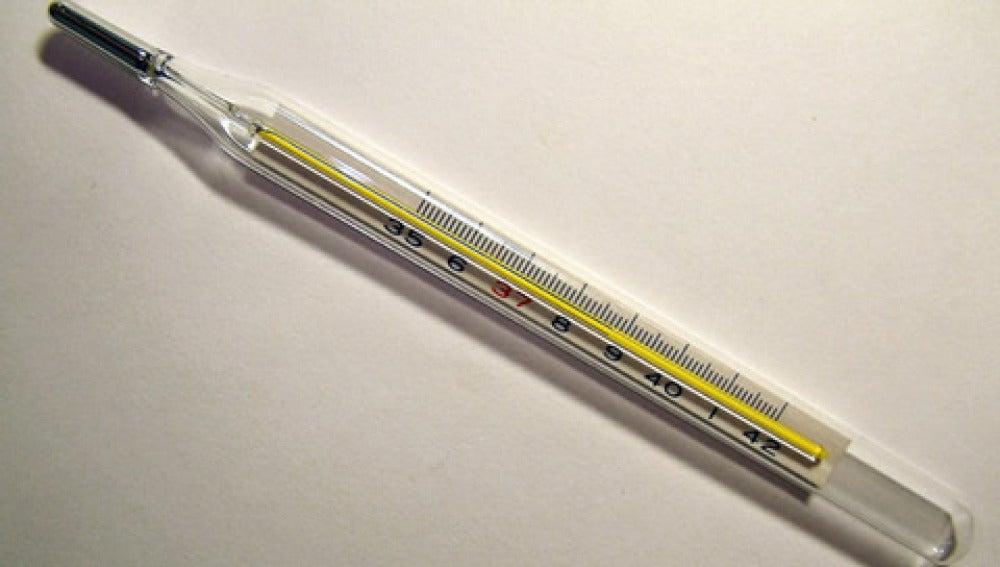 Un termómetro de mercurio