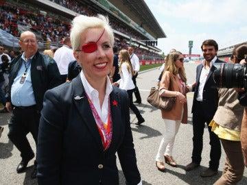 María de Villota, en el circuito de Cataluña