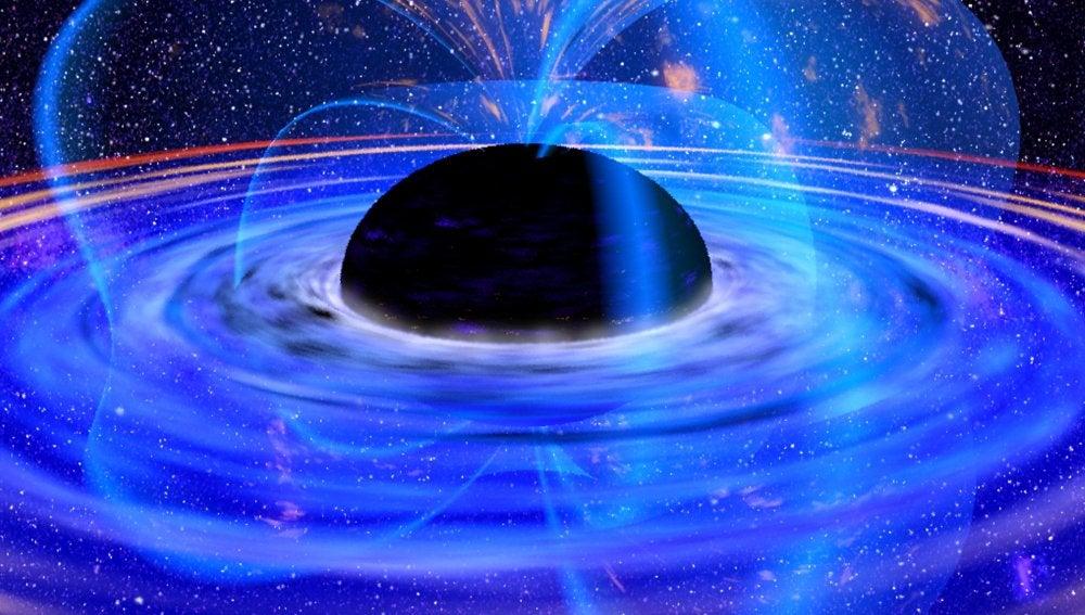 Los agujeros negros generan potentes campos magnéticos a su alrededor
