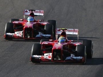 Alonso y Massa en Suzuka