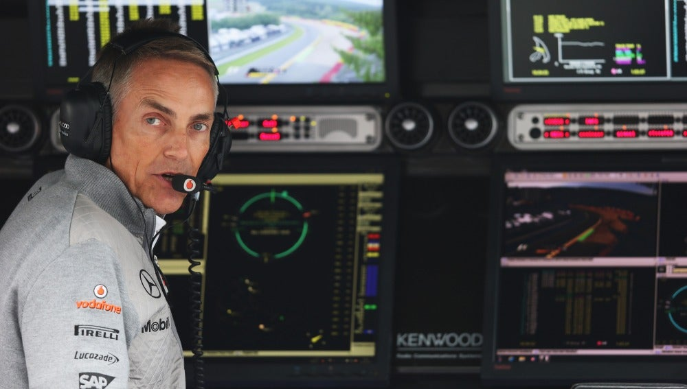 Martin Whitmarsh, en el Gran Premio de Bélgica