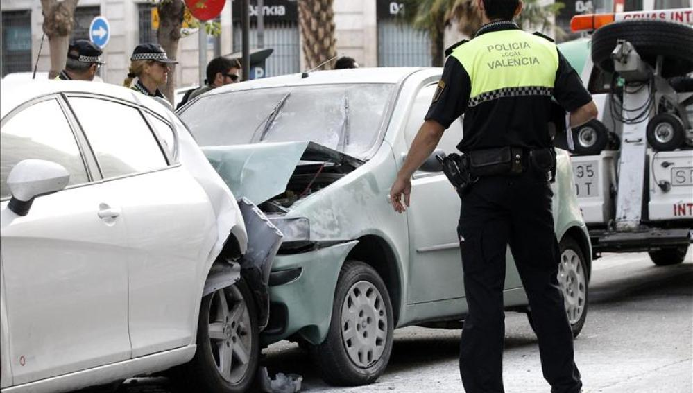 accidente de tráfico en Valencia