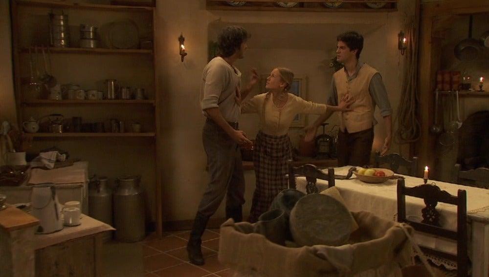 Isidro y Anibal se pelean