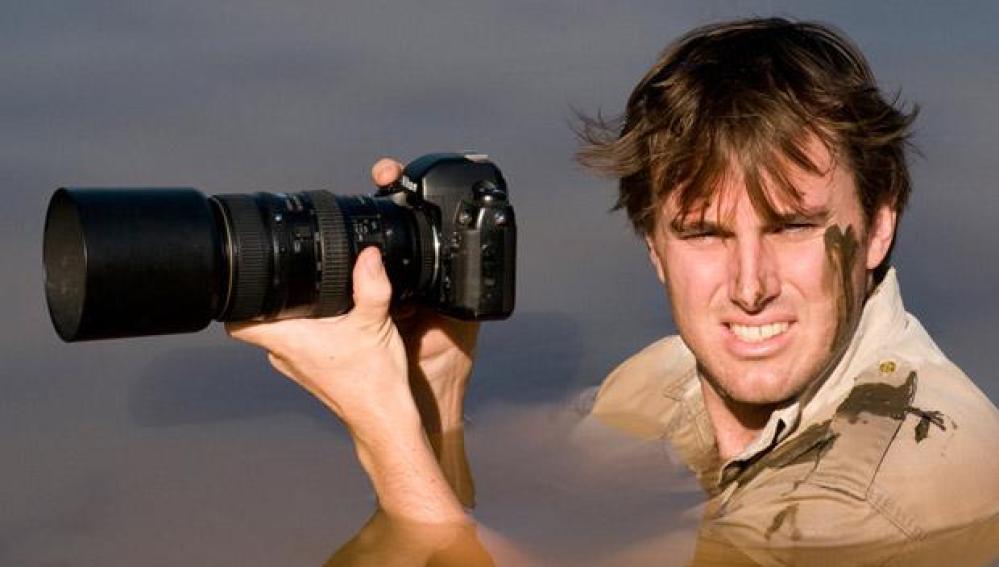 El ganador del gran premio, Greg du Toit en acción