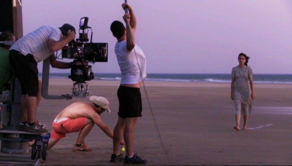 El rodaje en la playa de Marruecos