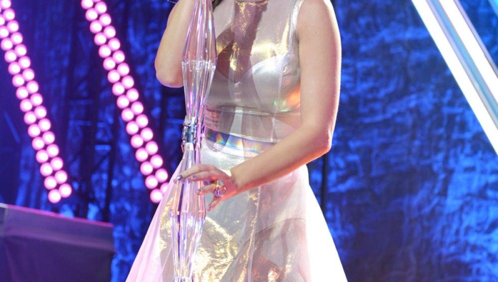 Katy Perry en concierto en Los Ángeles.