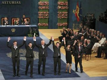 Los premiados con el Premio Príncipe de Asturias 2013 de Cooperación Internacional