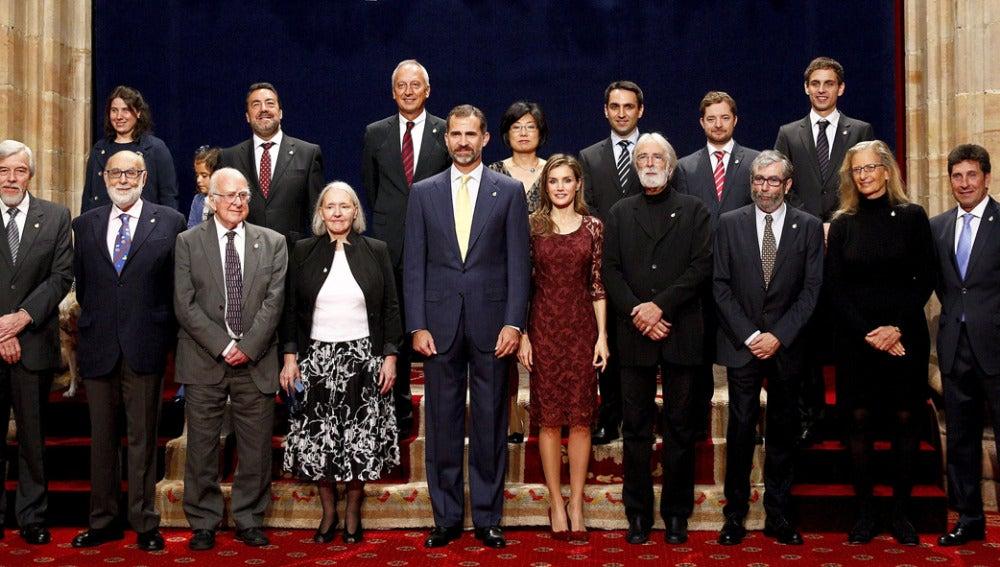 Foto de familia de los Premios Príncipe de Asturias