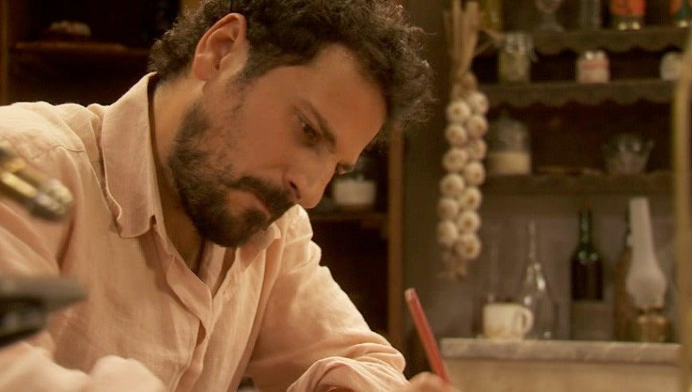 María informa a Gonzalo y Aurora de las verdaderas intenciones de Conrado