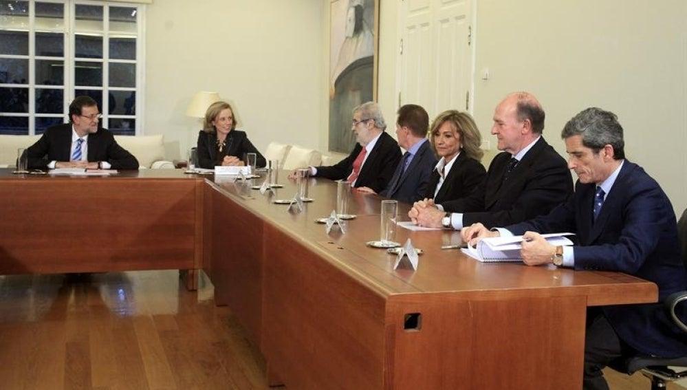 Rajoy en Moncloa.