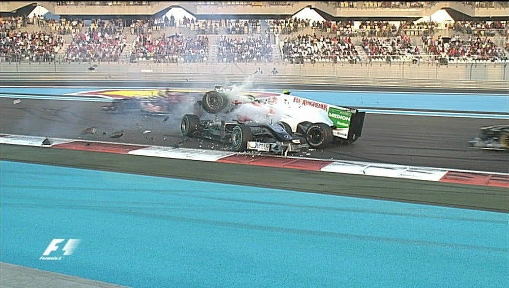 Accidente de Schumacher en Yas Marina.