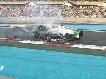 Accidente de Schumacher en Yas Marina.