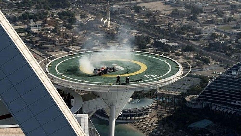Los donuts de Coulthard en Dubai