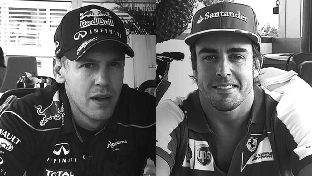 Alonso y Vettel se someten al test de Antena 3