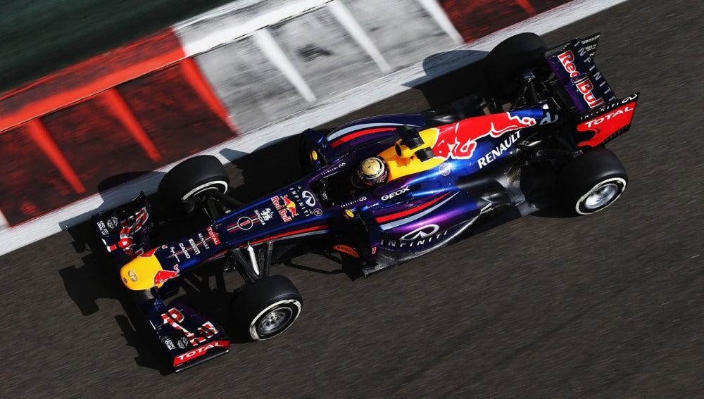 Vettel, desde arriba