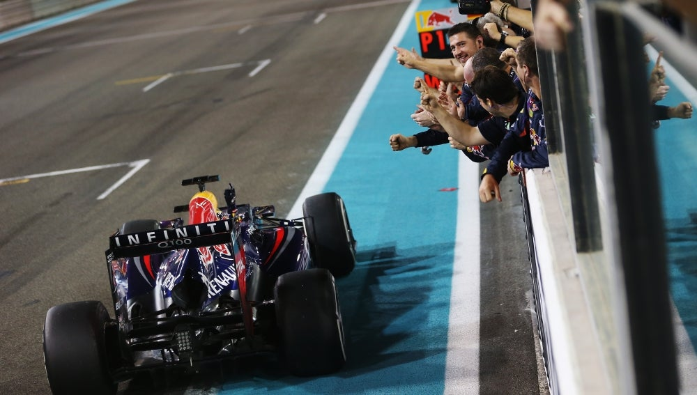 Vettel llega a meta en Abu Dabi