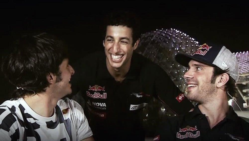 Sainz, Ricciardo y Vergne