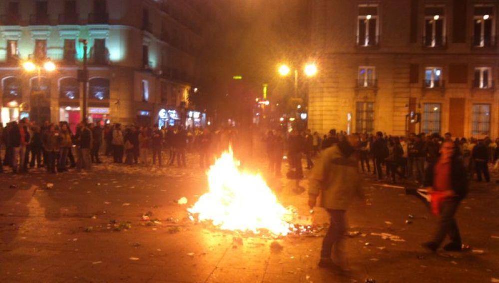 Protestas en la Puerta del Sol