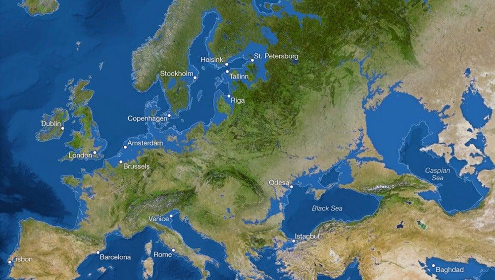 Mapa de Europa en 5.000 años