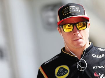 Kimi Raikkonen, en el paddock