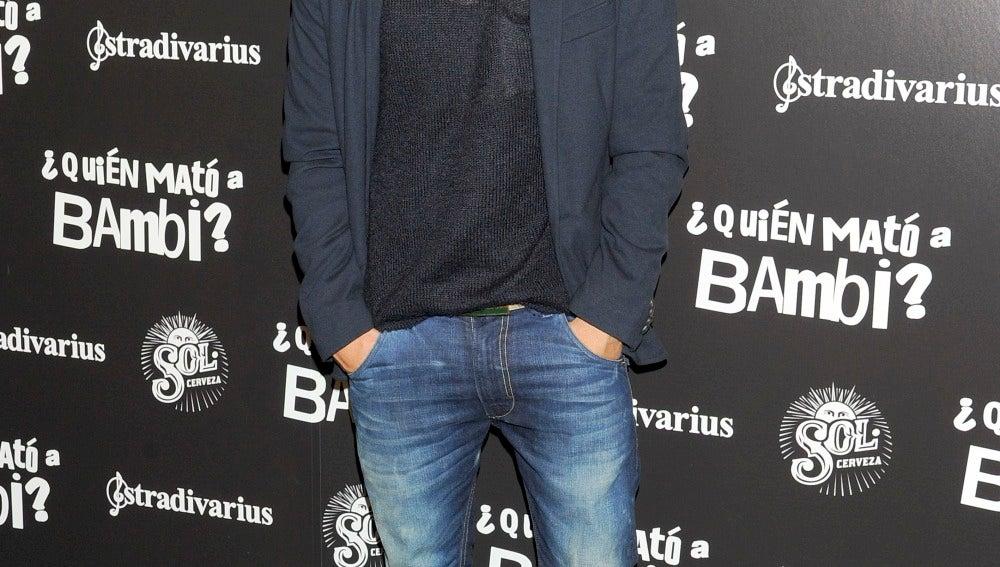 Jonás Beramí a su llegada a la première