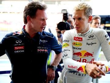 Horner conversa con Vettel en Singapur