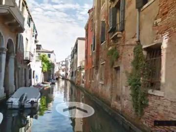 Los canales de Venecia desde Google Street View