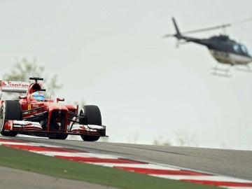 Alonso y un helicóptero en EEUU