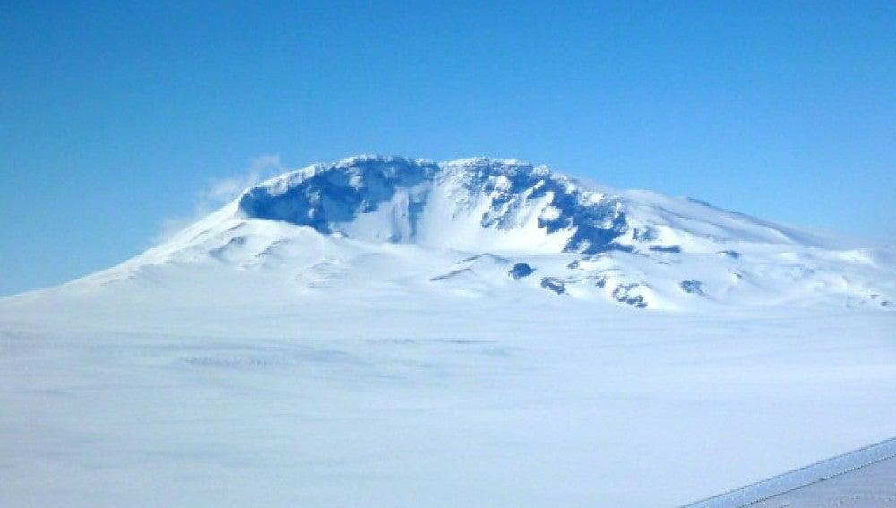 Imágen del Monte Sidley cercano al volcán subterraneo